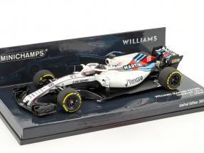 Lance Stroll Williams FW41 #18 showcar formula 1 2018 1:43 Minichamps