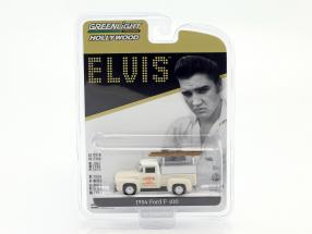 Ford F-100 Pick-Up Crown Electric Co. Baujahr 1954 Elvis Presley weiß 1:64 Greenlight
