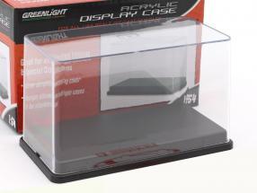 Acryl Vitrine mit schwarzem Kunststoff-Sockel für Modelle im Maßstab 1:64 Greenlight