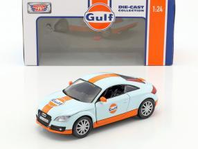 Audi TT Coupe Baujahr 2015 gulf blau / orange 1:24 MotorMax