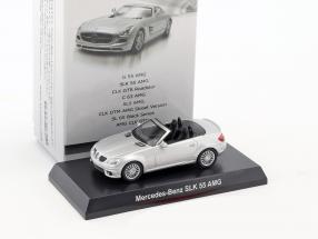Mercedes-Benz SLK 55 AMG Cabriolet silber metallic 1:64 Kyosho