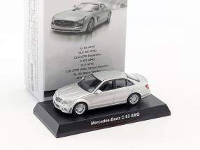 Mercedes-Benz C 63 AMG silver metallic 1:64 Kyosho