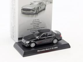 Mercedes-Benz C 63 AMG black 1:64 Kyosho