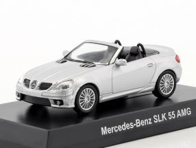 Mercedes-Benz SLK 55 AMG Cabriolet silver metallic 1:64 Kyosho