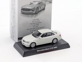 Mercedes-Benz C 63 AMG white 1:64 Kyosho
