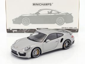 Porsche 911 (991 II) Turbo S year 2016 silver 1:18 Minichamps