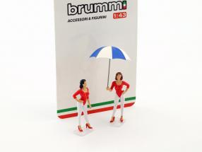 Set Giacobazzi Girls Lambrusco Team mit Schirm 1:43 Brumm