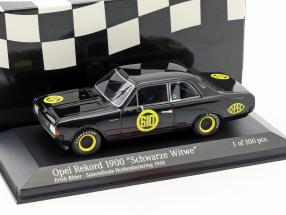 Opel Rekord 1900 Schwarze Witwe #610 Saisonfinale Hockenheim 1968 Erich Bitter 1:43 Minichamps