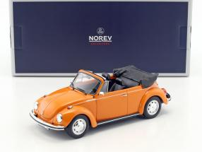 Volkswagen VW Käfer 1303 Cabriolet Baujahr 1973 orange 1:18 Norev