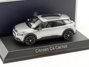 Citroen C4 Cactus year 2018 aluminum gray 1:43 Norev