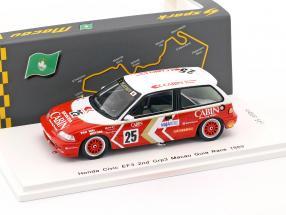 Honda Civic EF3 #25 2nd Grp3 Macau Guia Race 1989 Yasuo Muramatsu 1:43 Spark