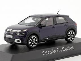 Citroen C4 Cactus year 2018 deep purple 1:43 Norev