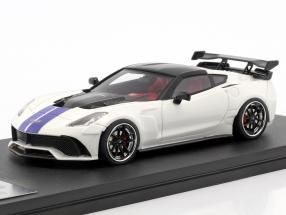 Chevrolet Corvette Widebody DarwinPRO Black Sails year 2016 white / blue / black 1:43 GLM