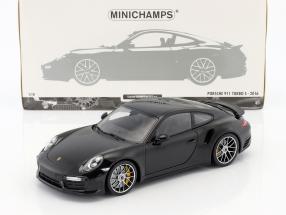 Porsche 911 (991 II) Turbo S Baujahr 2016 schwarz 1:18 Minichamps