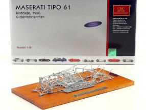Maserati Tipo 61 Birdcage year 1960 Space frame 1:18 CMC
