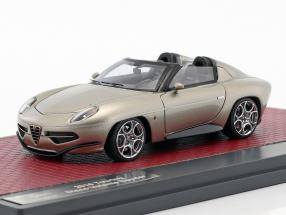 Alfa Romeo Disco Volante Touring Spyder Baujahr 2017 champagner metallic 1:43 Matrix