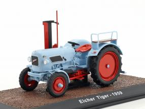 Eicher Tiger Traktor Baujahr 1959 hellblau 1:32 Atlas