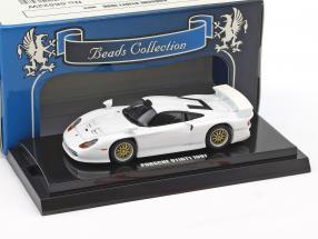 Porsche 911 GT1 Baujahr 1997 weiß 1:64 Kyosho