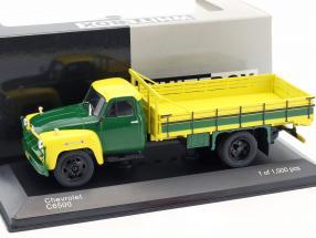 Chevrolet C6500 Construction year 1958 yellow / green 1:43 WhiteBox