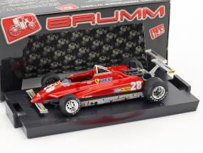 Didier Pironi Ferrari 126C2 #28 Winner USA GP Long Beach formula 1 1982 1:43 Brumm