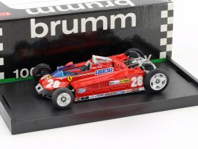Didier Pironi Ferrari 162CK #28 4th Monaco GP Formel 1 1981 Transport-Version 1:43 Brumm