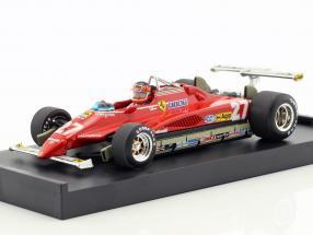 Gilles Villeneuve Ferrari 126C2 #27 USA GP Long Beach formula 1 1982 1:43 Brumm