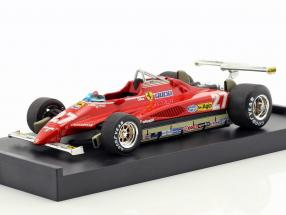 Gilles Villeneuve Ferrari 126C2 #27 USA GP Long Beach Formel 1 1982 1:43 Brumm
