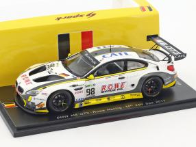 BMW M6 GT3 #98 10th 24h Spa 2017 Rowe Racing 1:43 Spark