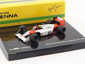 Ayrton Senna McLaren MP4/4 #12 Weltmeister Japan GP F1 1988 1:43 Minichamps