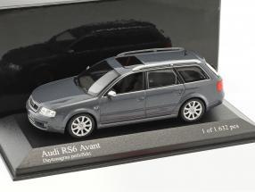 Audi RS6 Avant Baujahr 2002 daytonagrau perleffekt 1:43 Minichamps
