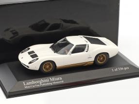 Lamborghini Miura Mini Car Fan Publishing Memorial weiß 1:43 Minichamps