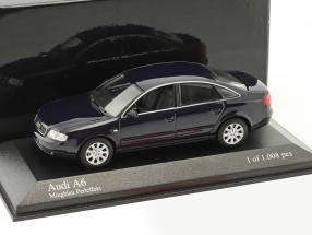 Audi A6 C5 Baujahr 2002 blau metallic 1:43 Minichamps