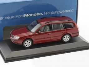 Ford Mondeo Turnier Baujahr 2001 rot metallic 1:43 Minichamps