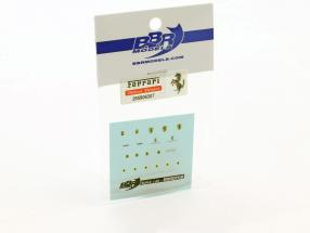 Ferrari Decal Set for models in the scale 1:43 BBR