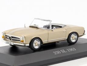 Mercedes-Benz 230 SL (W113) Pagode Baujahr 1963-1967 beige 1:43 Atlas
