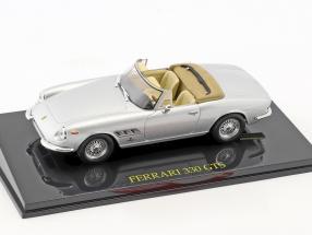 Ferrari 330 GTS silber mit Vitrine 1:43 Altaya