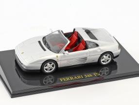 Ferrari 348 TS silver with showcase 1:43 Altaya