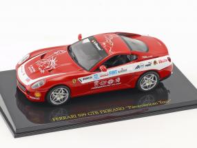 Ferrari 599 GTB Fiorano Panamerican Tour red with showcase 1:43 Altaya
