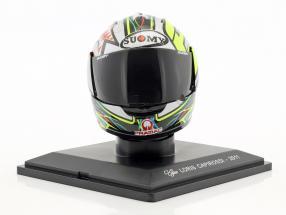 Loris Capirossi MotoGP 2011 Last Race helmet 1:5 Altaya