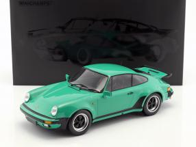 Porsche 911 (930) Turbo year 1977 green 1:12 Minichamps