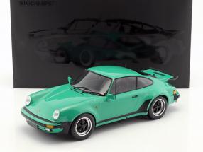 Porsche 911 (930) Turbo Baujahr 1977 grün 1:12 Minichamps