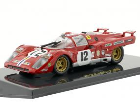 Ferrari 512M #12 3rd 24h LeMans 1971 Posey, Adamowicz mit Vitrine 1:43 Altaya