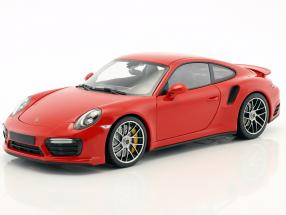 Porsche 911 (991) Turbo S year 2016 red 1:18 Minichamps