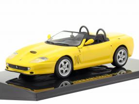 Ferrari 550 Barchetta yellow with showcase 1:43 Altaya