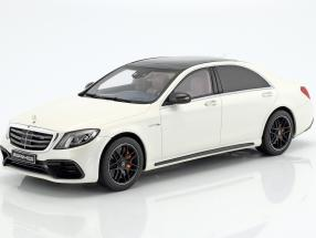 Mercedes-Benz AMG S 63 Mopf lang diamond white 1:18 GT-SPIRIT