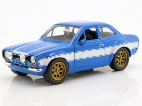 Brian's Ford Escort RS2000 MKI Fast & Furious 6 2013 blue / white 1:24 Jada Toys