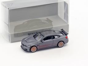 BMW M4 GTS year 2016 mat gray metallic / orange 1:87 Minichamps