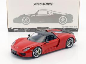 Porsche 918 Spyder Weissach Package Baujahr 2015 rot 1:18 Minichamps