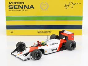 Ayrton Senna McLaren MP4/4 #12 World Champion Japan GP F1 1988 1:18 Minichamps