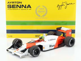 Ayrton Senna McLaren MP4/4 #12 World Champion Japan GP F1 1988 1:12 Minichamps